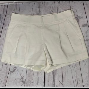 J Crew off white pleated shorts